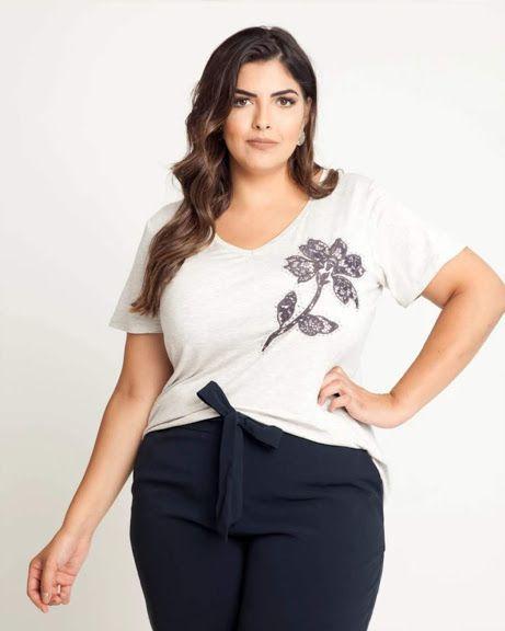 T-shirt Flor/Hot Fix