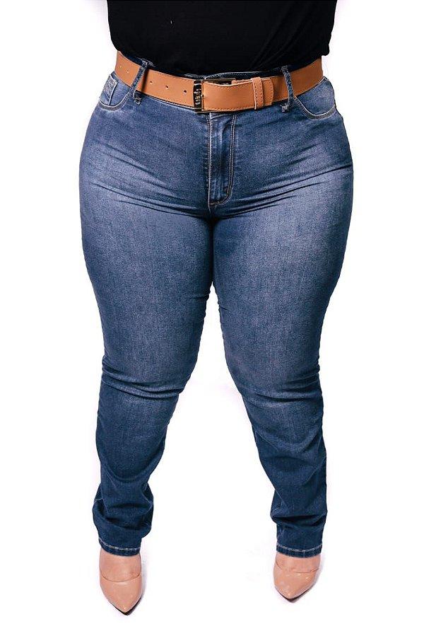Calça Jeans Reta/Cinto