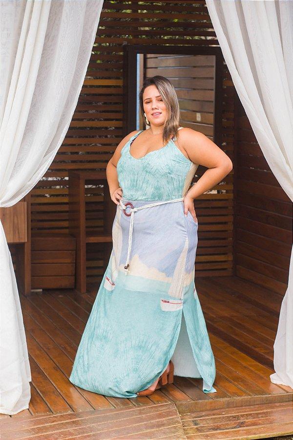 Vestido Viscose Barquinho