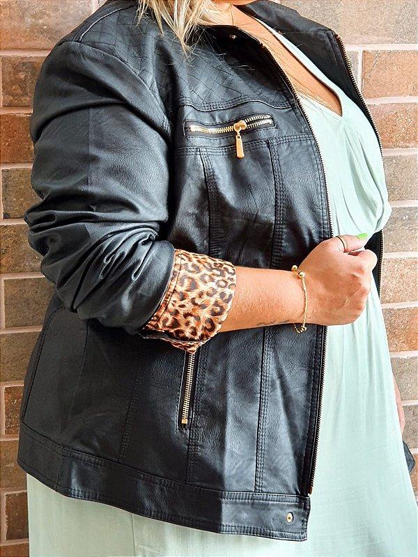 Jaqueta de couro eco