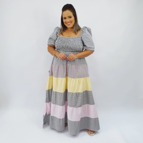 Vestido Tricoline 3 Marias