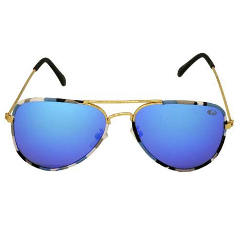 Óculos de Sol Redondo Dourado 1693