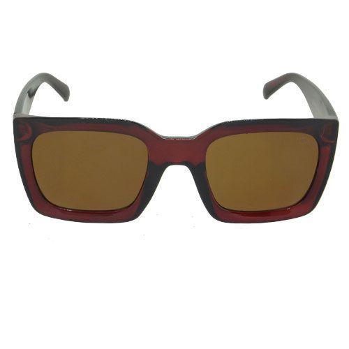 Óculos de Sol Quadrado Vinho
