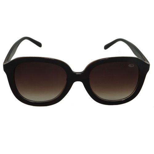 Óculos de Sol Redondo Marrom