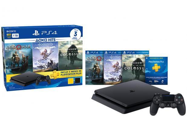 PS4 com 1TB + 3 Jogos