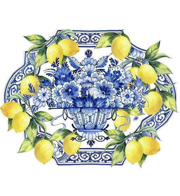 Jogo americano 3D azulejo e limão siciliano