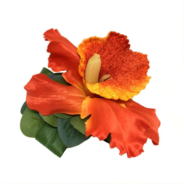 Porta guardanapo hibisco laranja