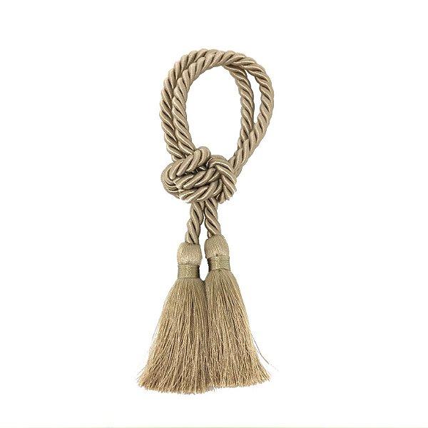 Porta guardanapo fio de seda trançado bege