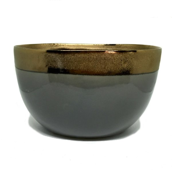 Cachepot oval fendi e cobre