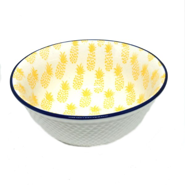 Bowl em cerâmica estampa abacaxi