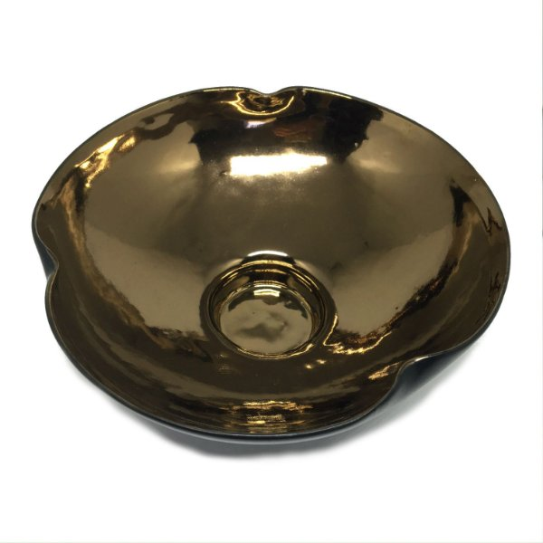 Bowl decorativo preto e dourado