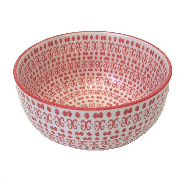 Bowl em porcelana estampada modelo 05 G