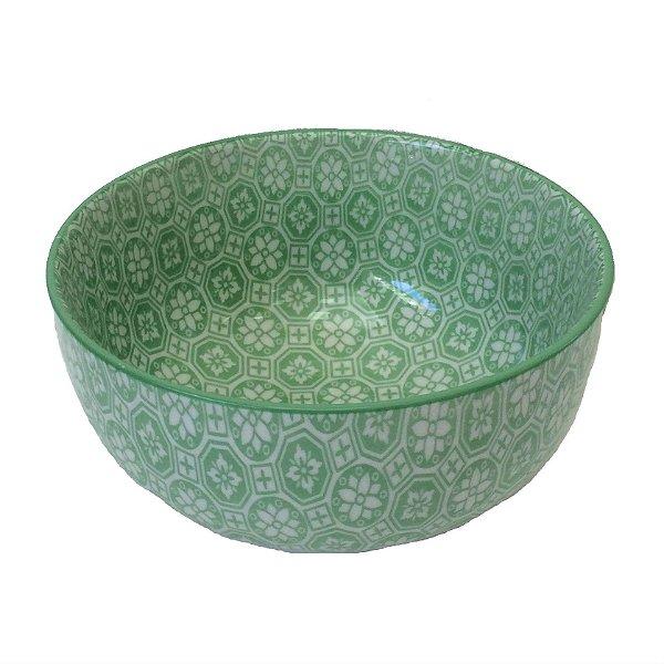Bowl em porcelana estampada modelo 06G