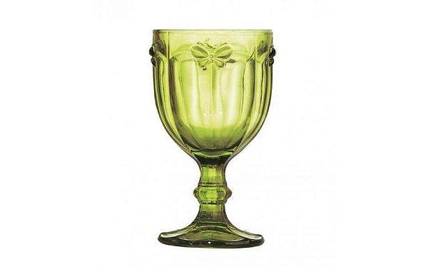 Taça para água em vidro verde