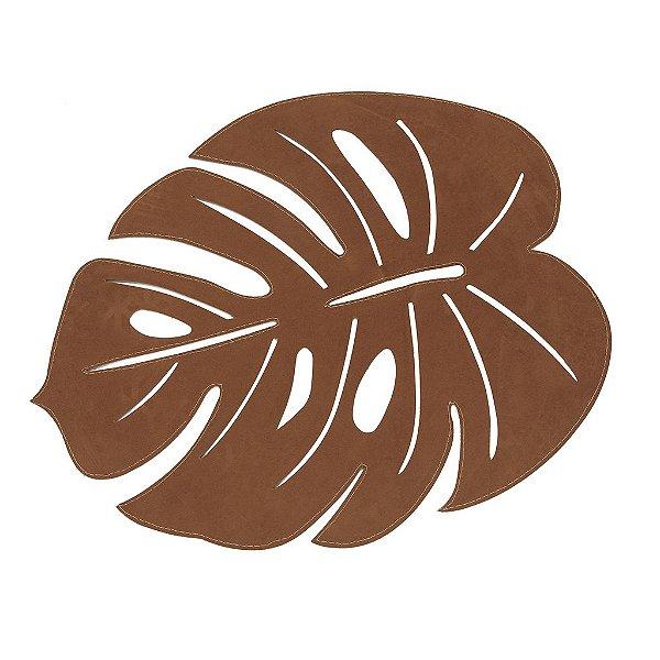 Jogo americano folha caramelo