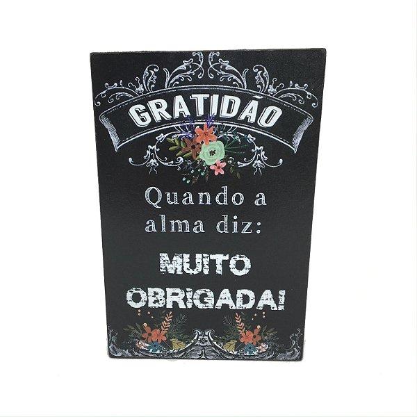 Placa PP Gratidão