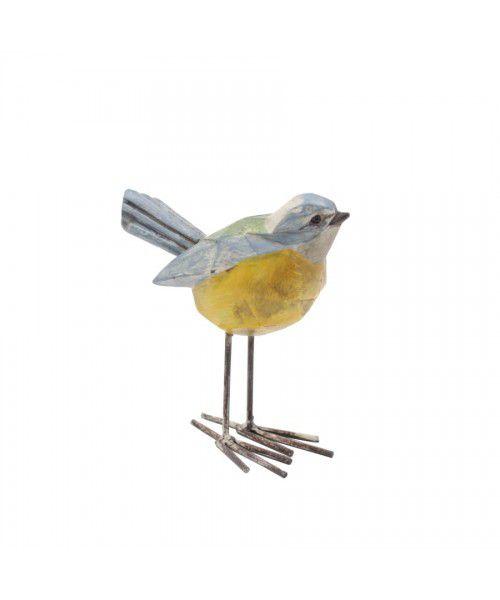 Pássaro  azul e amarelo