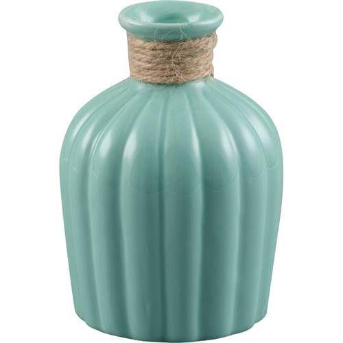 Vaso verde com sisal