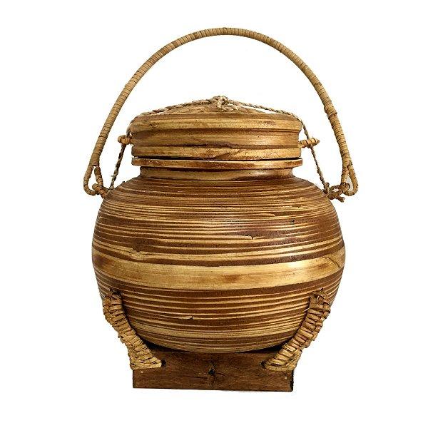 Pote de arroz decorativo