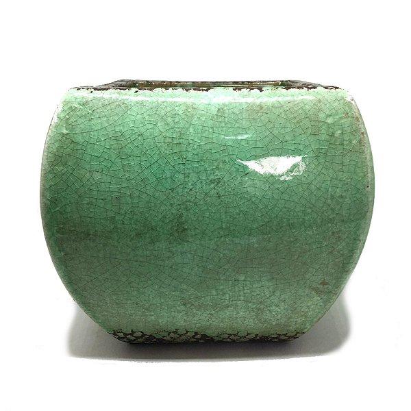 Cachepot verde quadrado M