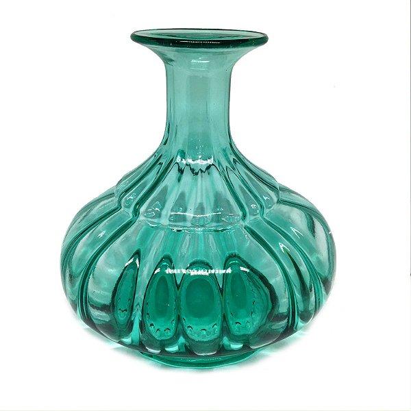 Vaso em vidro verde agua modelo 01
