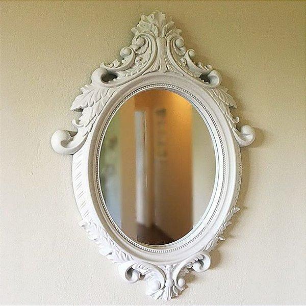 Espelho rococó branco