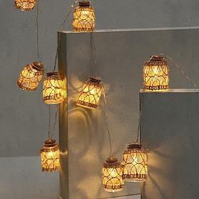Luzes decorativas garrafinhas