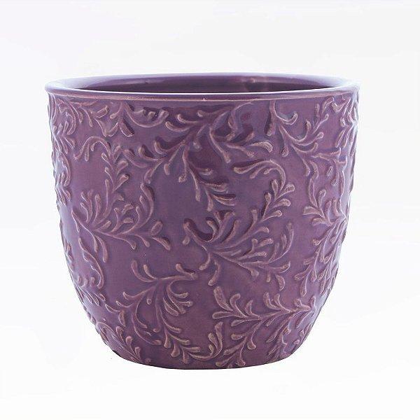 Vaso em cerâmica vinho M