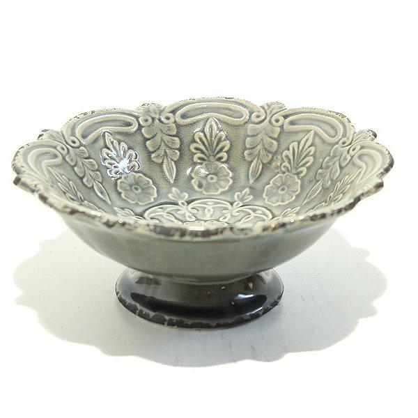 Taça PP em cerâmica  cinza