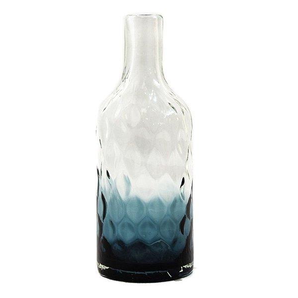 Vaso vidro degradê azul G