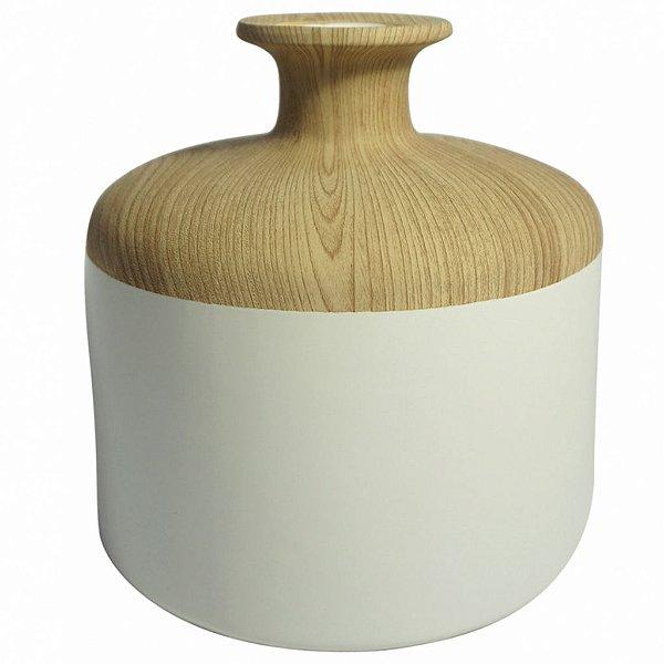 Vaso branco e bege G