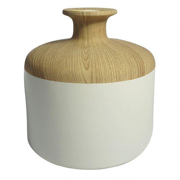 Vaso branco e bege M