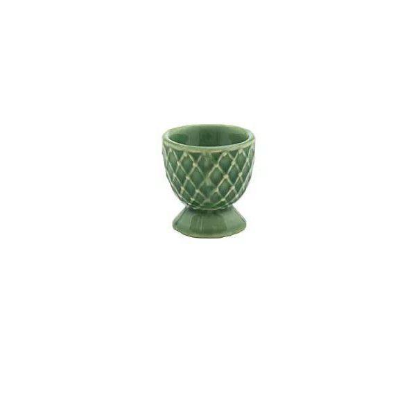 Porta ovo em cerâmica verde lala
