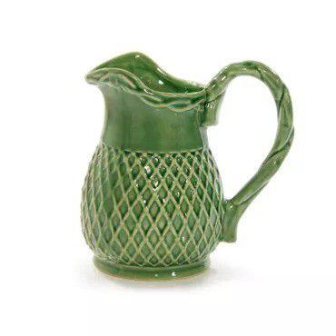 Jarra P em cerâmica verde lala