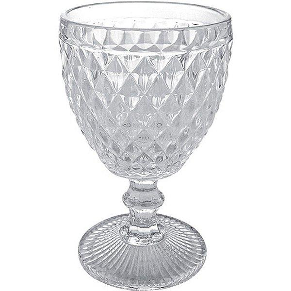 Taça em vidro para água transparente abacaxi