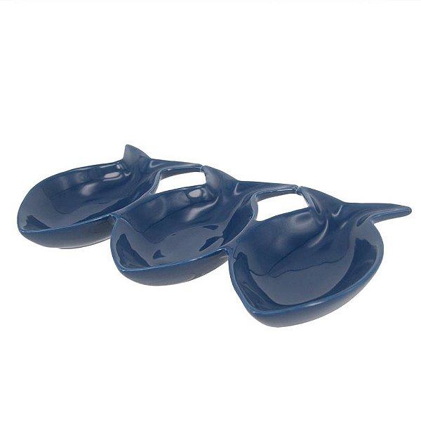 Petisqueira de peixes azul