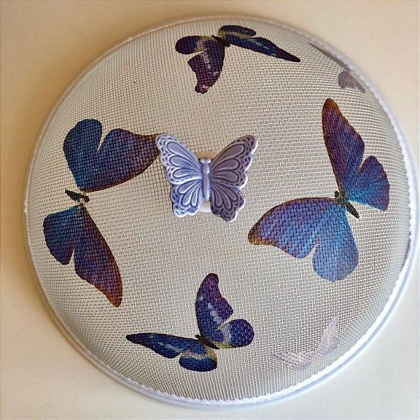 Cobre alimento borboleta azul
