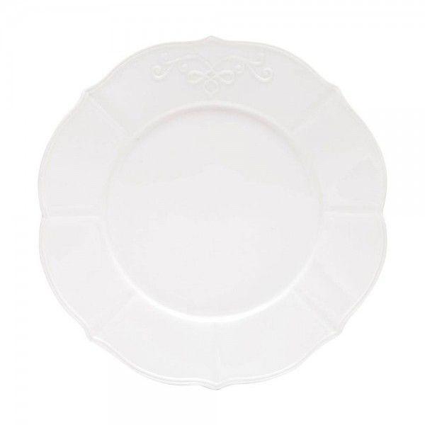 Prato raso em porcelana Genebra