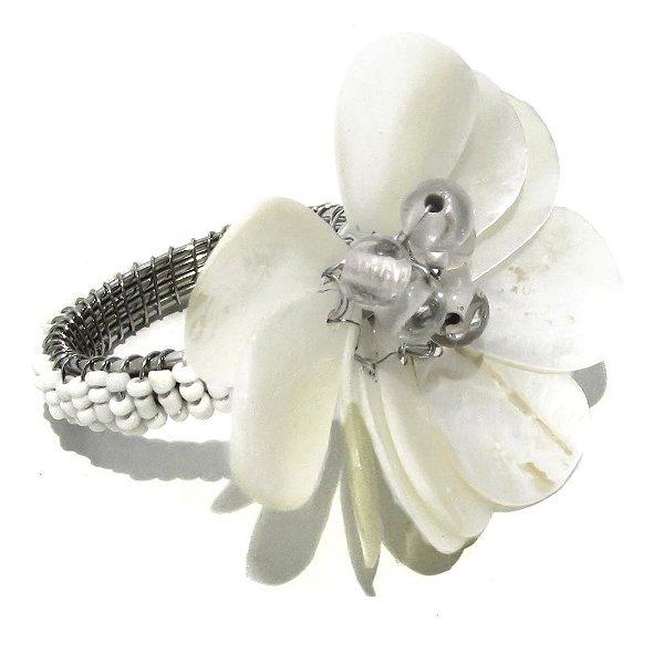 Porta guardanapo flor de madrepérola