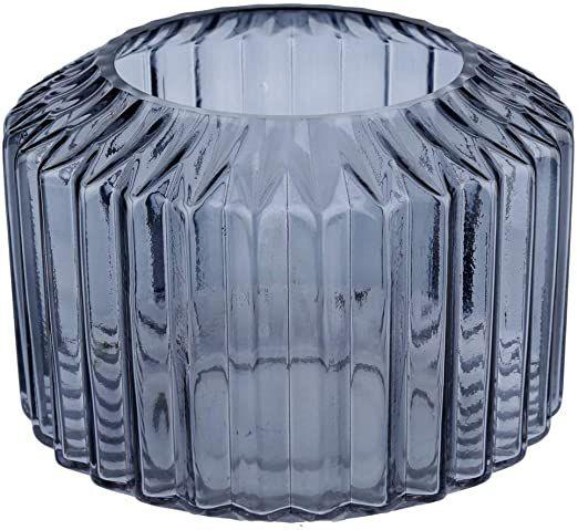 Vaso vidro cinza M