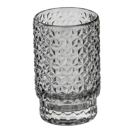 Castiçal vidro cinza
