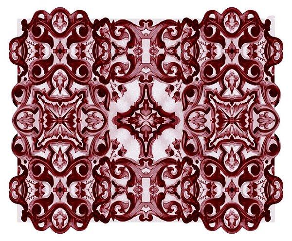Jogo americano 3D azulejo vinho