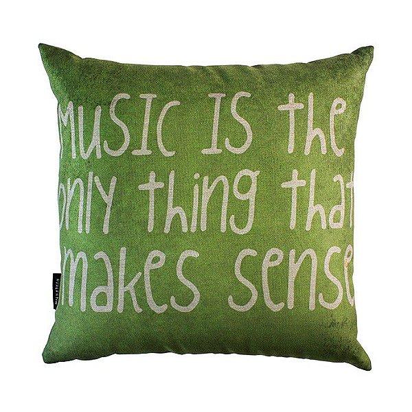 Almofada Music Is Green