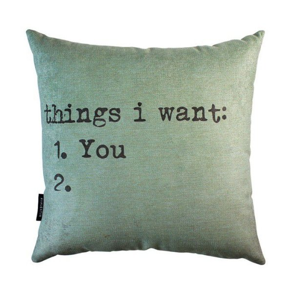 Almofada Things I Want