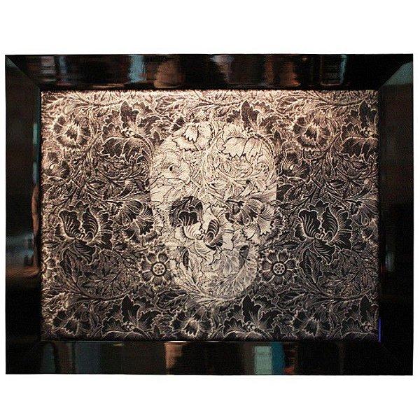 Quadro Skull Flower Black