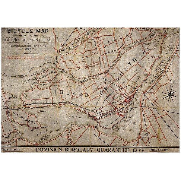 Jogo Americano Bike Map - 02 Peças
