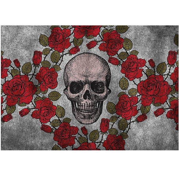 Jogo Americano Skull Roses - 02 Peças