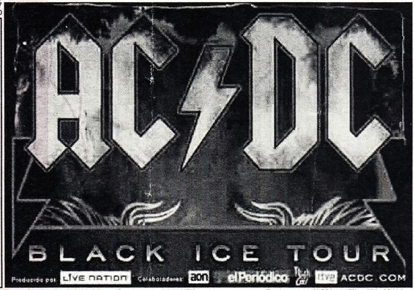 Jogo Americano ACDC Ticket