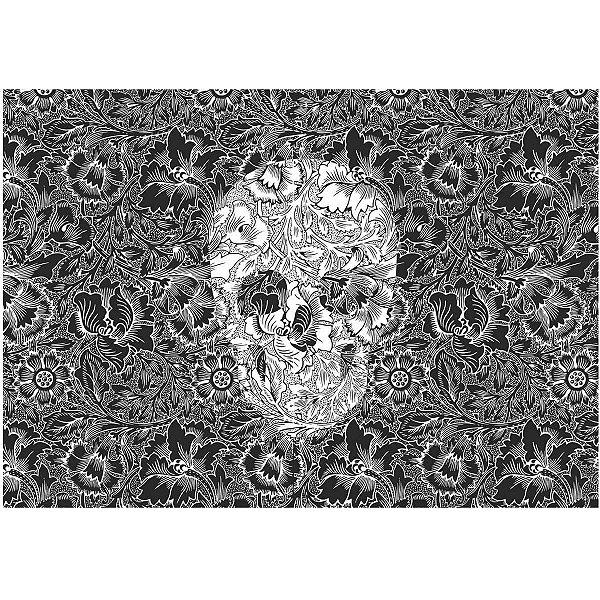 Jogo Americano Skull Black - 02 Peças