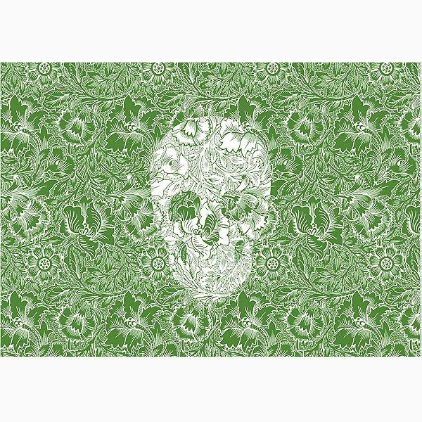 Jogo Americano Skull Green - 02 Peças